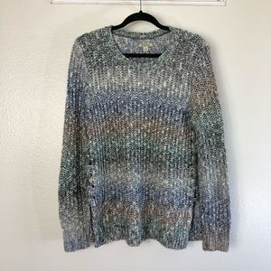 Lucky Brand Multicolor Marled Knit Sweater Small